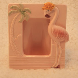 Vintage Pink Flamingo photo frame 5x7